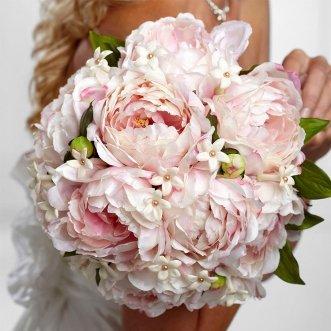 Букет невесты из нежно-розовых пионов «Нежный пион»