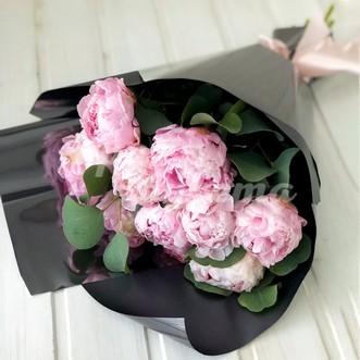 Розовые пионы Premium 11 шт.