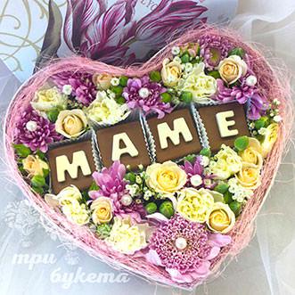 Цветы с шоколадом ко Дню Матери