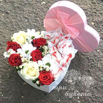 Комп. с Raffaello и розами